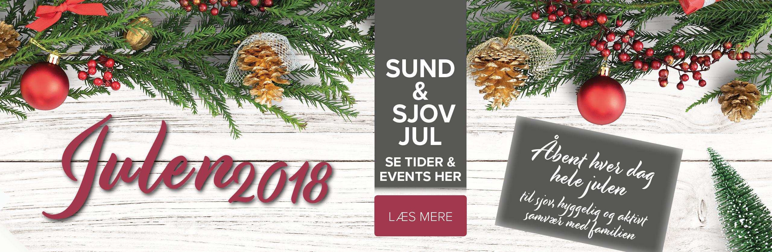 Julens åbnings- og holdtider 2018