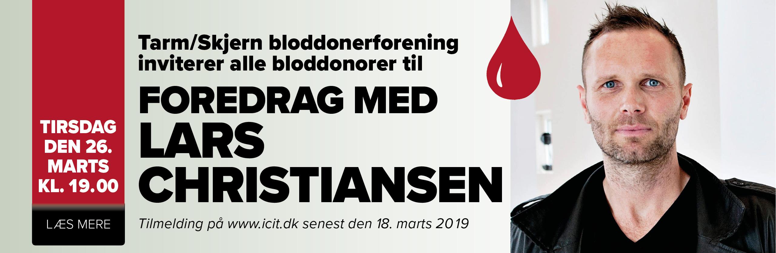 bloddonerarrangement – foredrag med Lars Christiansen