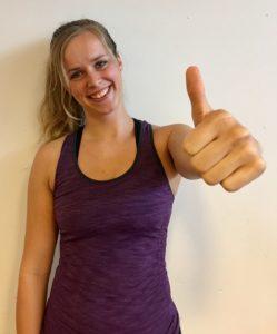 Christina, fitnessinstruktør