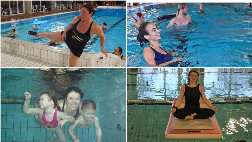 Hold i svømmehallen